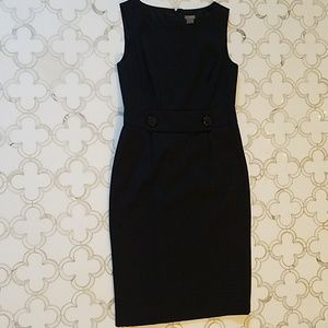 Size 4 Ann Taylor black wool dress